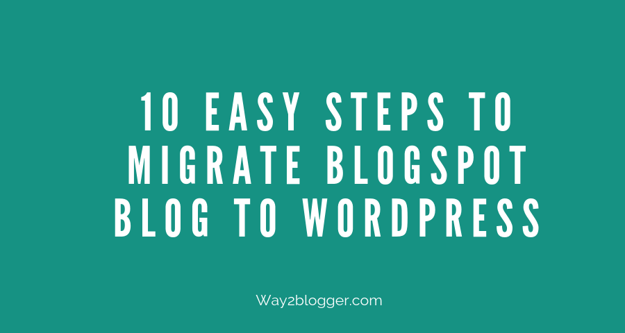 migrate blogspot blog