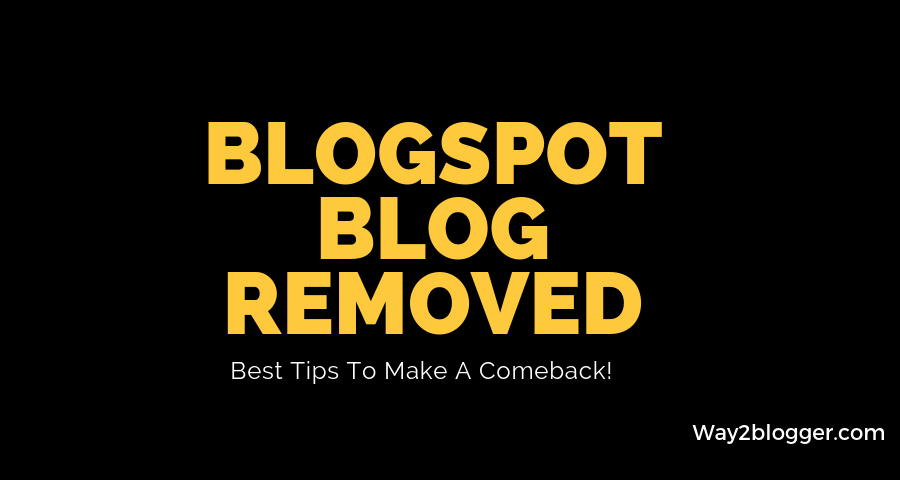 blogspot blog removed
